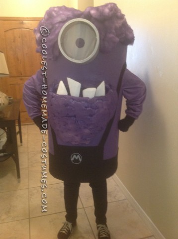 Homemade Purple Minion Halloween Costume
