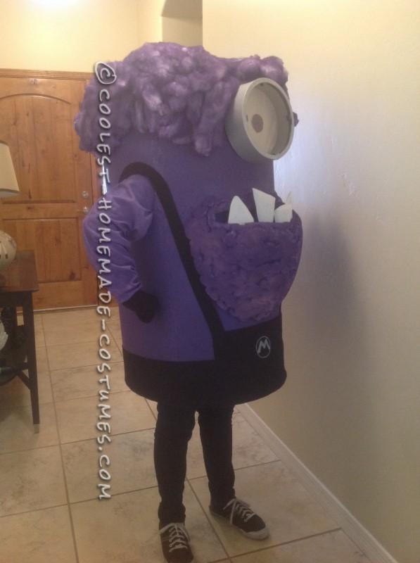 Homemade Purple Minion Halloween Costume - 1