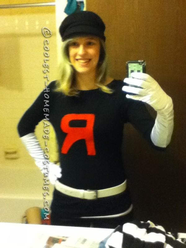 Homemade Team Rocket Grunt Costume - 1