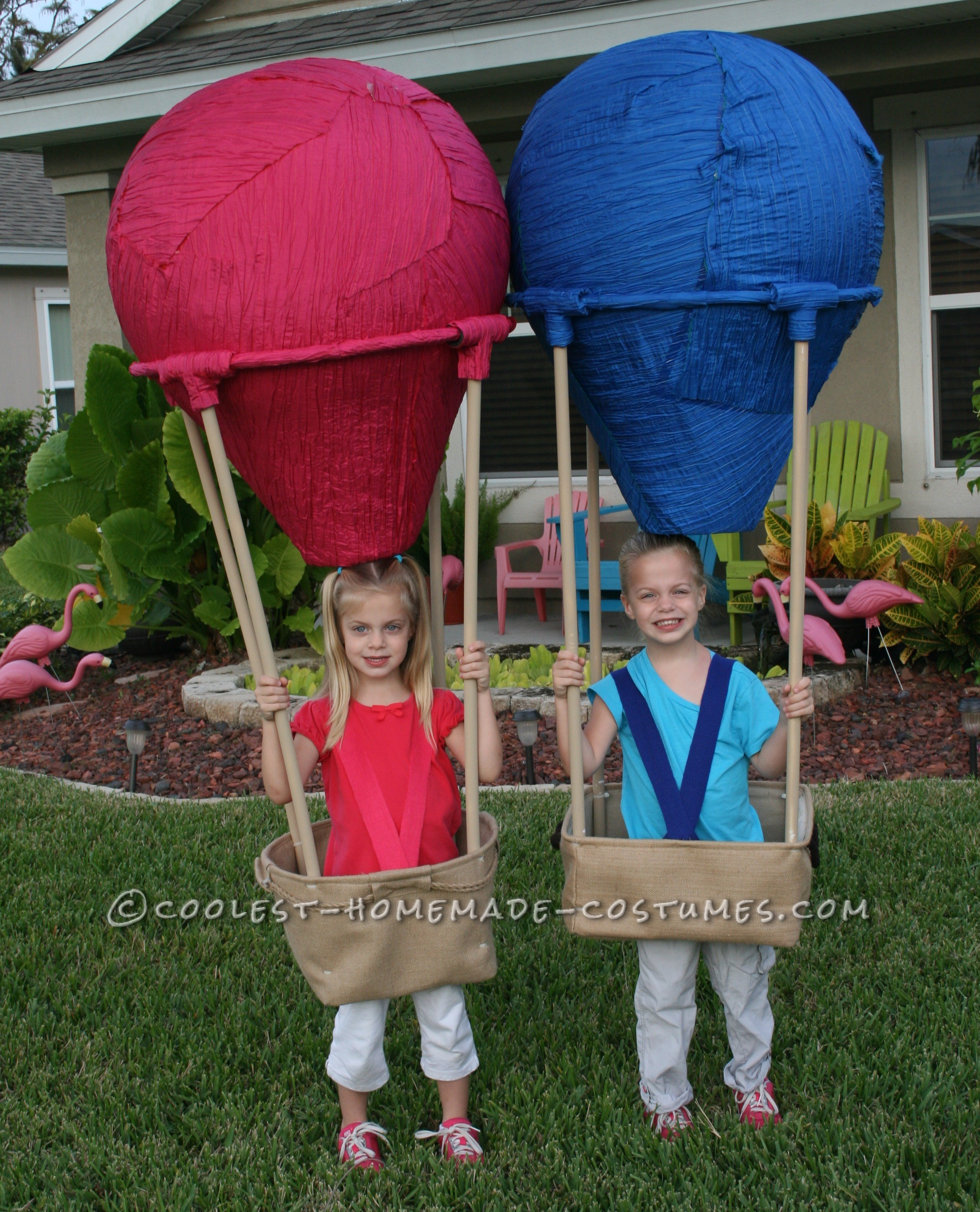 Homemade Twin Hot Air Balloons Costumes