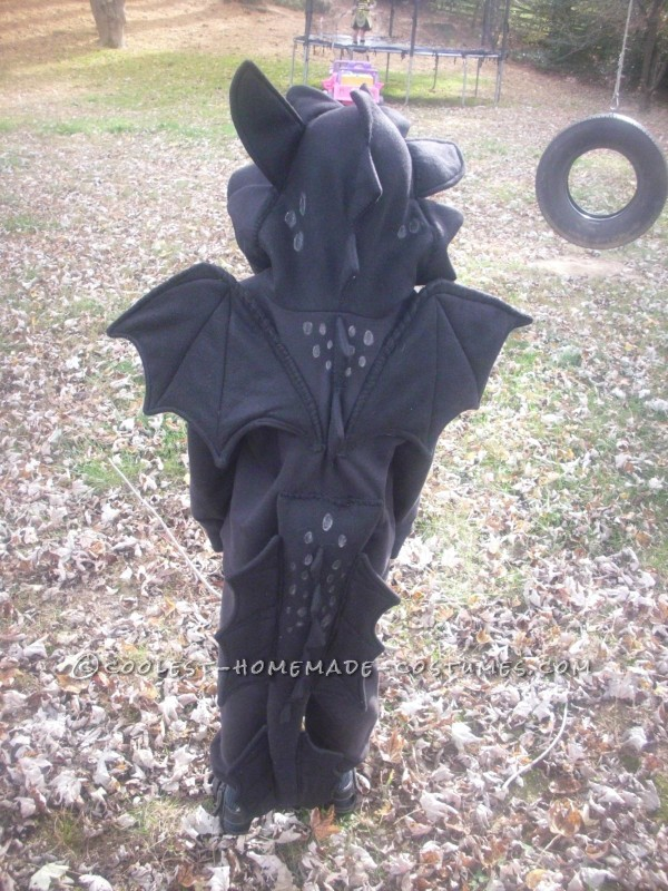 How to Train Your Dragon Homemade Toothless Costume - 1