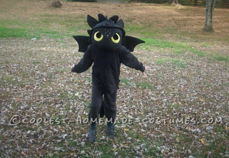 How to Train Your Dragon Homemade Toothless Costume - 2