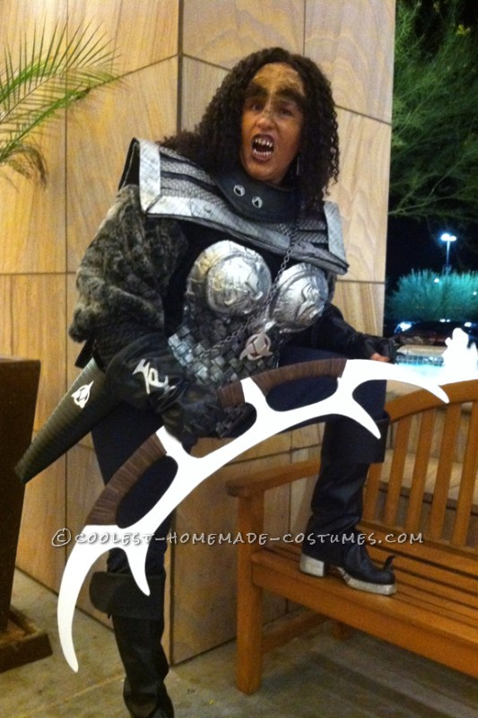 Cool Homemade Star Trek Costume: Klingon Warrior!