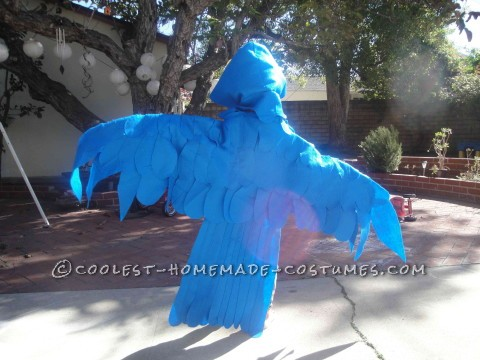 Blue Macaw Parrot Costume (I Had No Idea What I Was Doing...)