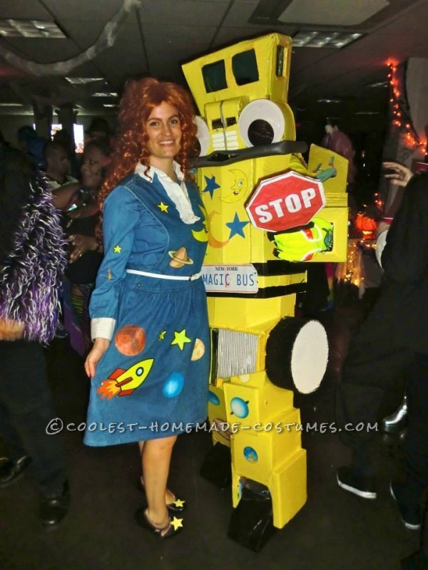 I Melted My Skin to Give Her this Magic School Bus Couple Halloween Costume