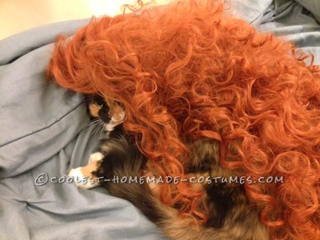 Testing Wig on Mona