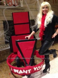 """Cool DIY Christina Aguilera on The Voice Costume: """"I Want You!"""""""