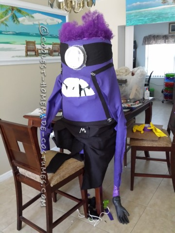 DIY Purple Minion Halloween Costume