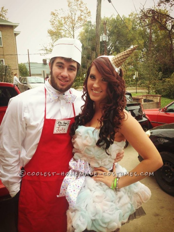 Coolest Ice Cream Cone and Ice Cream Man Couple Halloween Costume