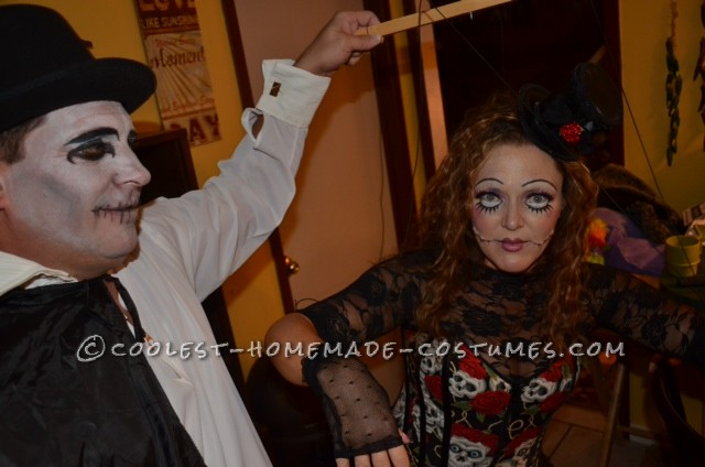 Creepy Marionette and Puppeteer Couple Halloween Costume - 2