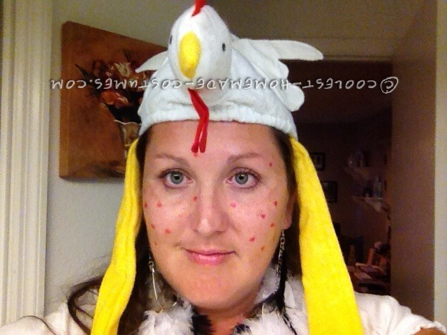 Witty Homemade Wordplay Costume Idea: Chicken Pox