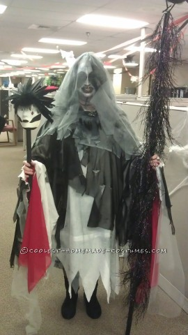 Creepy Homemade Costume: The Morrigan Has Come to Take Your Soul!