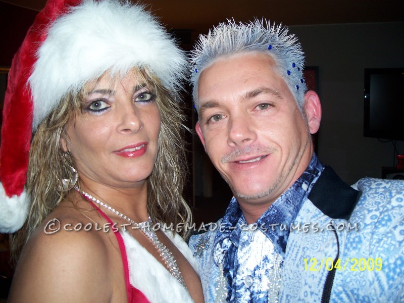 Jack Frost and Mrs. Clause Couple Costume (The Ultimate Affair!) - 1
