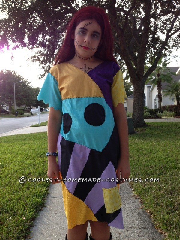 Cool Homemade Sally Costume (and Crocheted Jack Accessories) - 1