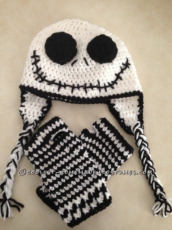 Cool Homemade Sally Costume (and Crocheted Jack Accessories) - 3