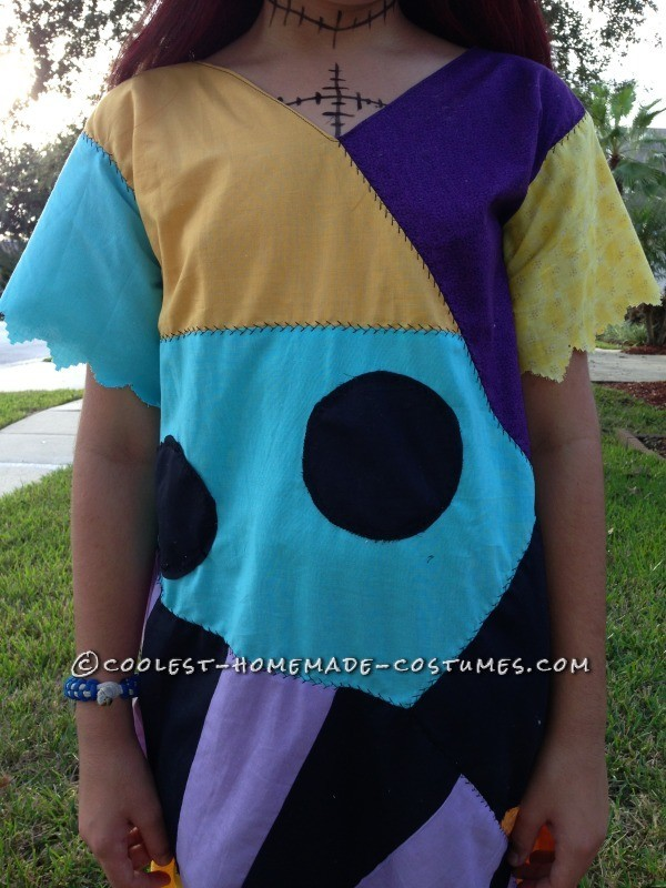 Cool Homemade Sally Costume (and Crocheted Jack Accessories) - 4
