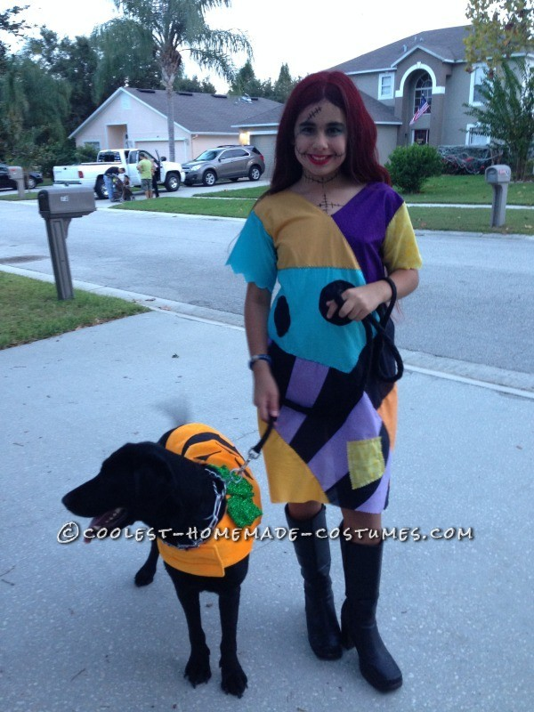 Cool Homemade Sally Costume (and Crocheted Jack Accessories) - 5