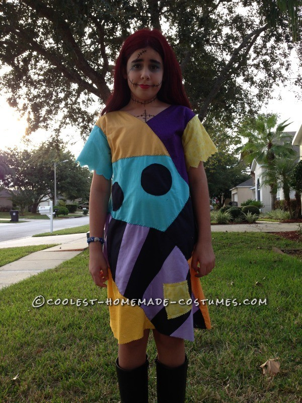 Cool Homemade Sally Costume (and Crocheted Jack Accessories) - 6