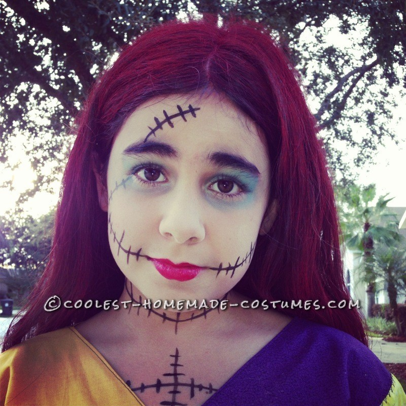 Cool Homemade Sally Costume (and Crocheted Jack Accessories) - 7