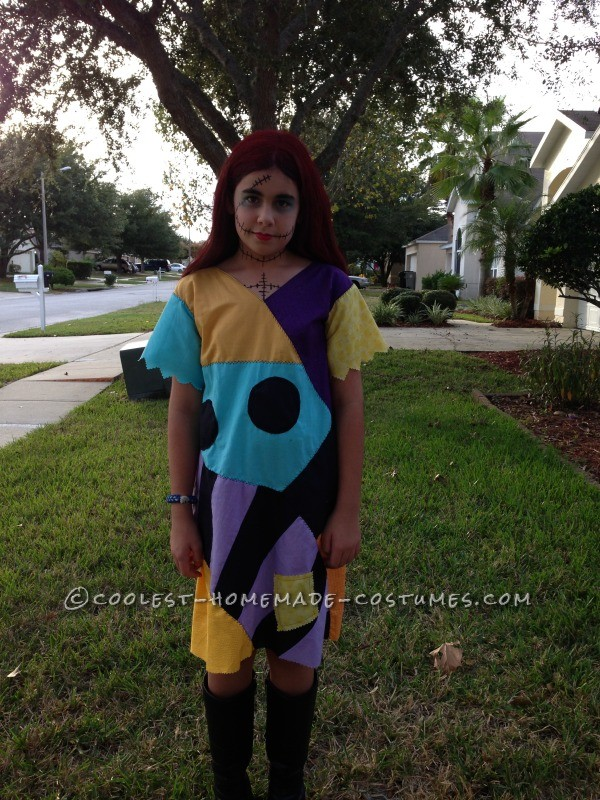 Cool Homemade Sally Costume (and Crocheted Jack Accessories) - 9