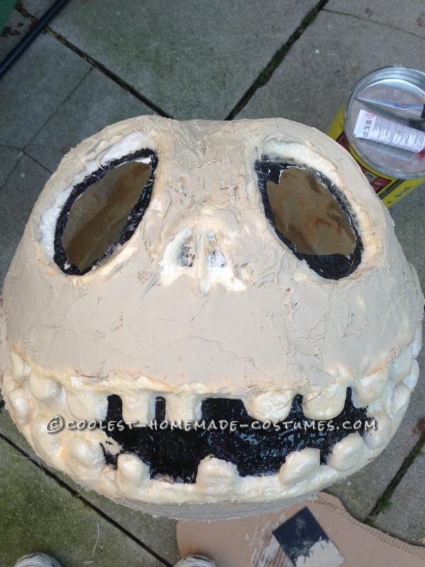 Cool Jack Skellington Homemade Mask and Costume - 5