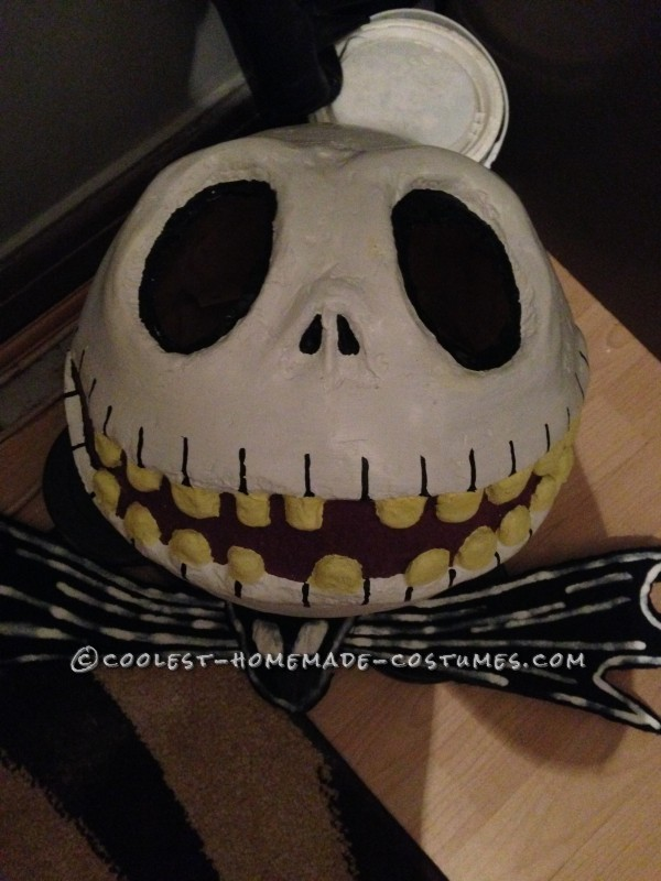 Cool Jack Skellington Homemade Mask and Costume - 6