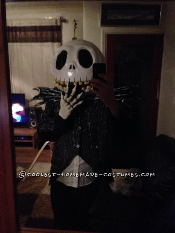 Cool Jack Skellington Homemade Mask and Costume