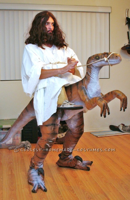 Homemade Jesus Riding a Raptor Illusion Costume