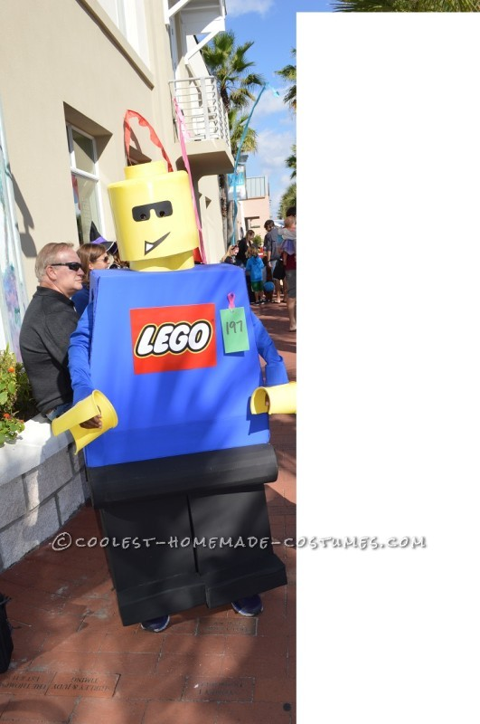 Not-So-Mini Lego Minifigure Homemade Halloween Costume