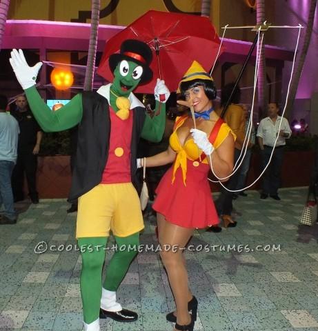 Jiminy and Sexy Pinnochio Couple Halloween Costume