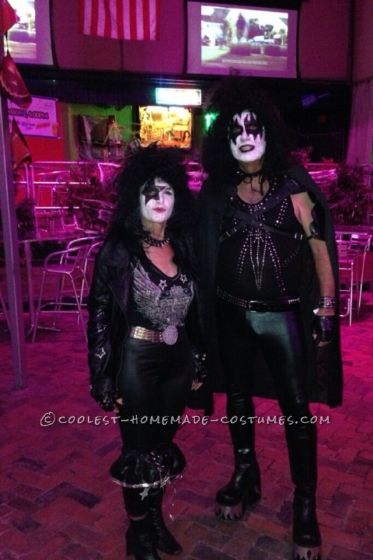 Cool KISS Couple Costume: Gene Simmons and Paul Stanley