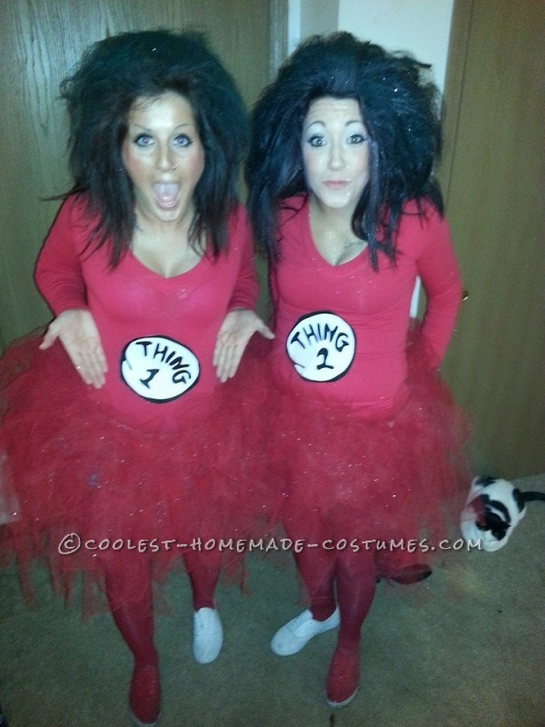 Last-Minute Sexy Girls Group Costume: Thing 1, Thing 2 and Cat in the Hat - 1
