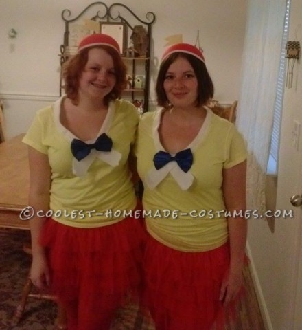 Last-Minute Tweedle Dee and Tweedle Dum Couple Costume