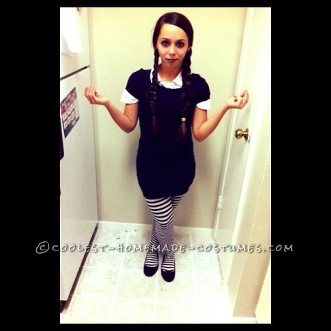Last Minute Wednesday Addams Costume