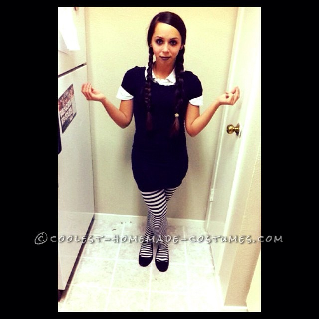 Last Minute Wednesday Addams Costume