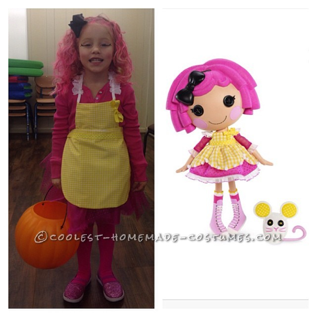 learning to sew for loralis lalaloopsy halloween costume