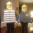 Coolest Homemade Prisoner and Policeman LEGO Minifigure Costumes