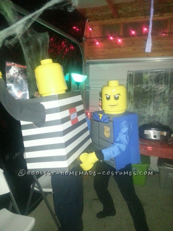 LEGO convict being frisked!