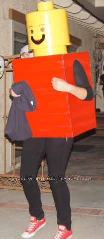 Cool Homemade Lego Lady Costume