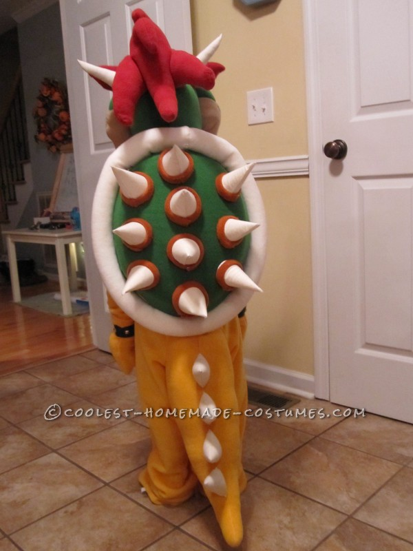 Lifelike Bowser Costume for 5 Year Old Boy