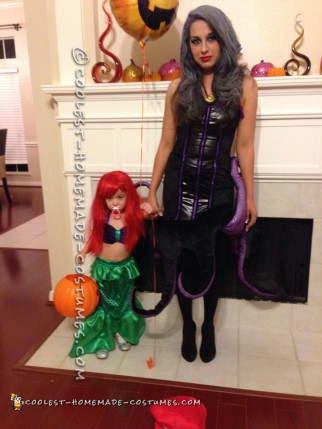 Homemade Toddler Mermaid Costume (and Mommy Ursula)