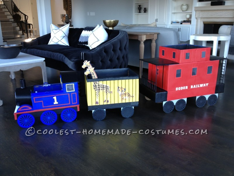 Little Girl Thomas the Tank Engine and Family Costumes - 2