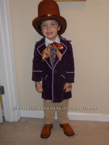 Little Mister Willy Wonka Costume for a Toddler