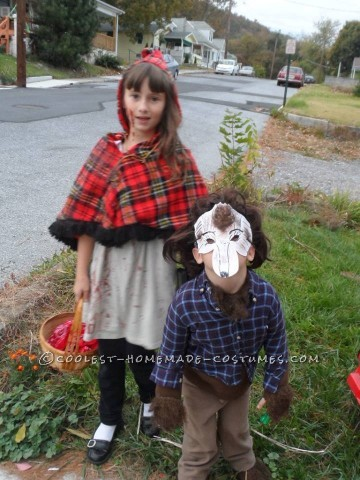Brother and Sister Costume: Little Red Riding Hood and the Wolf Who Took a Bite