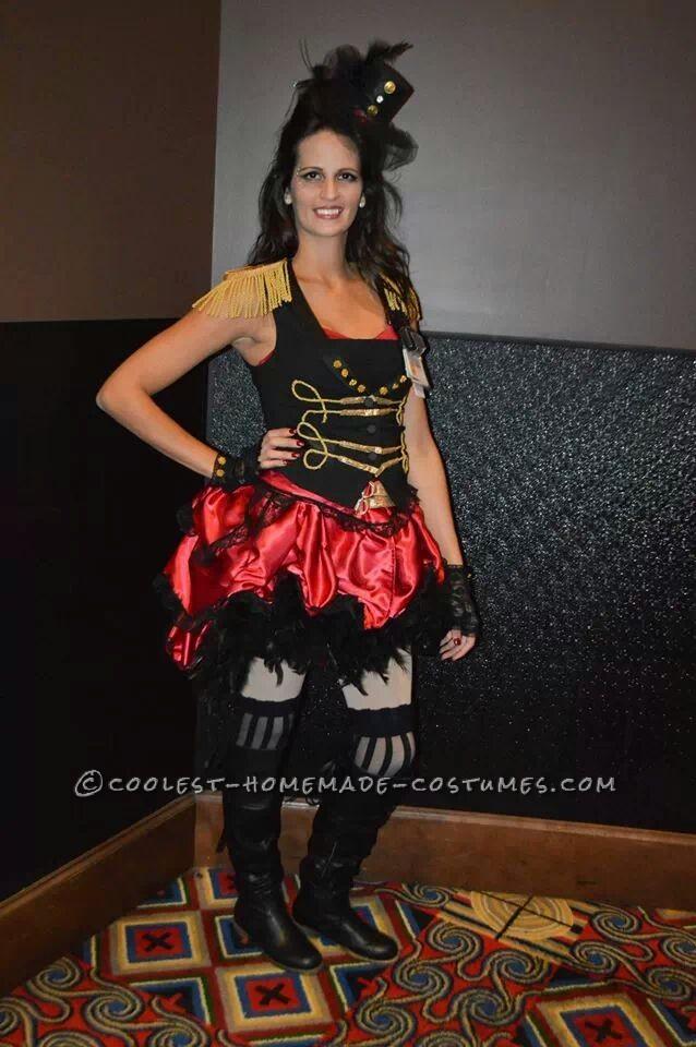 Luxurious Burlesque Female Ringmaster Costume
