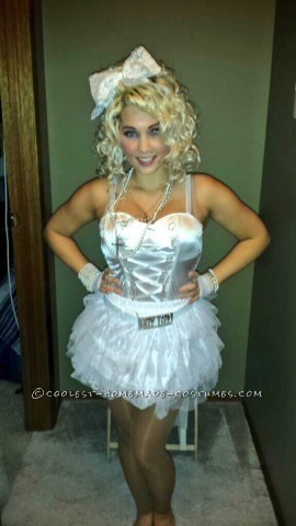 "Madonna's ""Like a Virgin"" Homemade Halloween Costume"