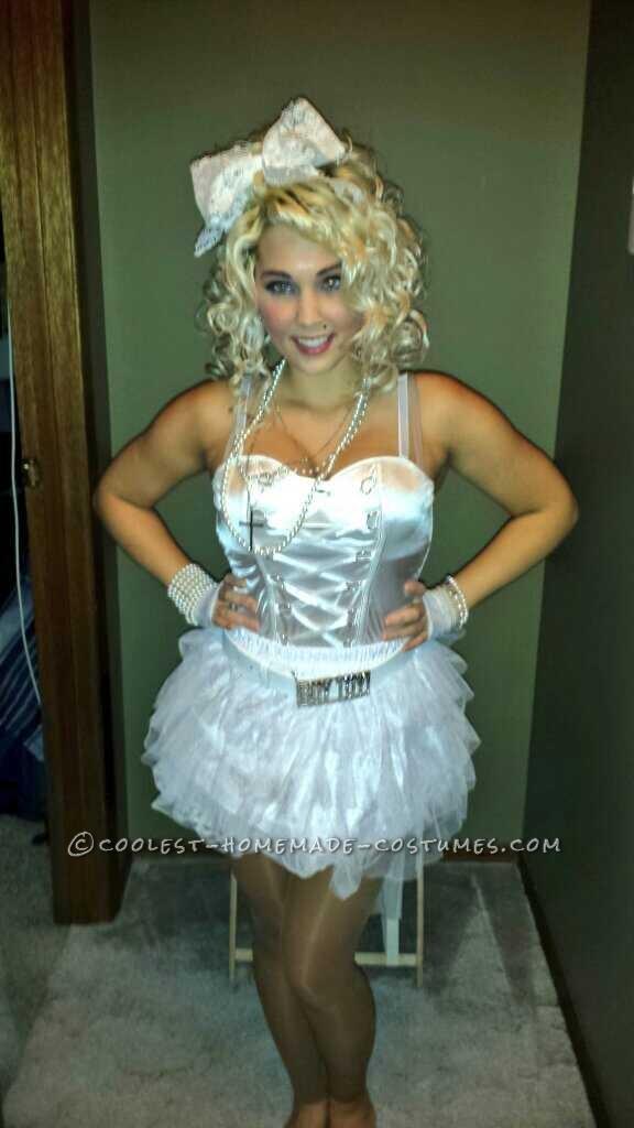 "Madonna's ""Like a Virgin"" Homemade Halloween Costume"