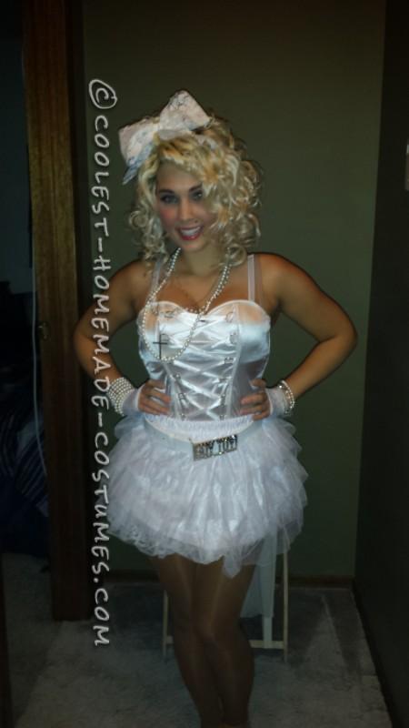 "Madonna's ""Like a Virgin"" Homemade Halloween Costume - 1"