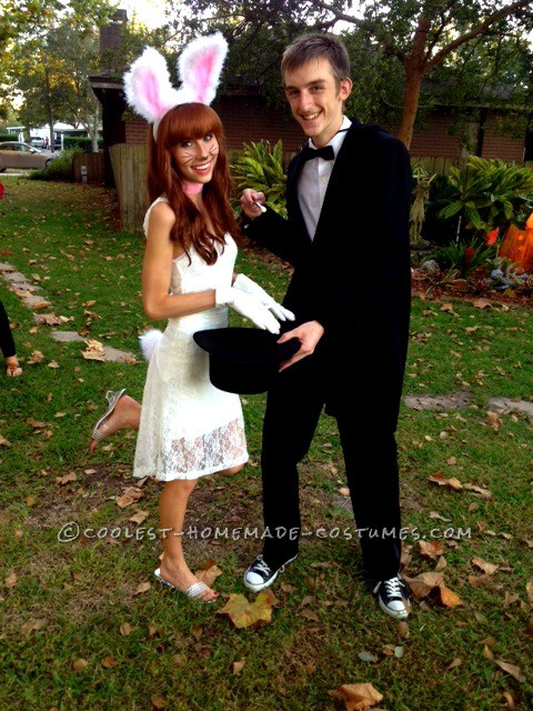 Magician and White Rabbit Couple Halloween Costume
