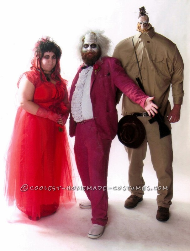 Awesome Beetlejuice, Lydia and Shrunken Head Group Costumes